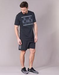 Clothing Men Shorts / Bermudas Under Armour WOVEN GRAPHIC WORDMARK SHORT Black
