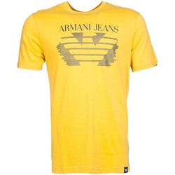 Clothing Men short-sleeved t-shirts Armani jeans T Shirt 6Y6T66 6JPFZ yellow
