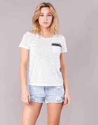 Clothing Women short-sleeved t-shirts Yurban ITNOLA Ecru