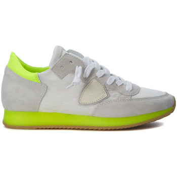 Shoes Low top trainers Philippe Model Paris Tropez white and fluo yellow sneakers White
