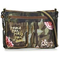 Bags Women Handbags Desigual BOLS_BAQUEIRA MILITAR FLORES Black / Multicoloured