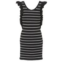 Clothing Women Short Dresses Vero Moda VMABHY Black / White