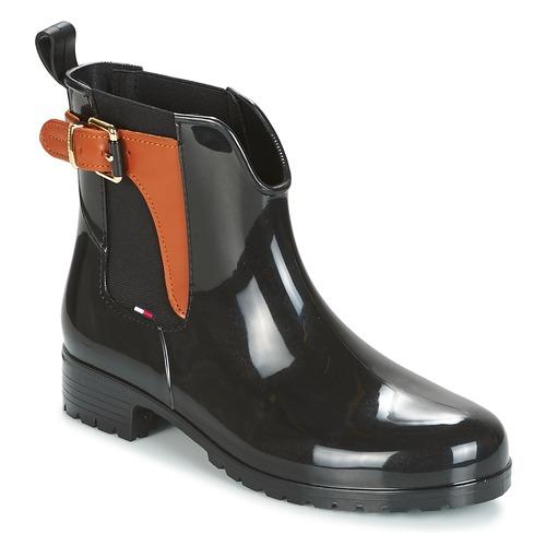 Shoes Women Wellington boots Tommy Hilfiger OXLEY Black