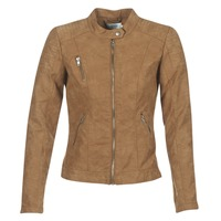 Clothing Women Leather jackets / Imitation leather Only STEADY Cognac