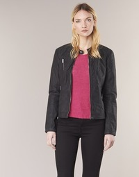 Clothing Women Leather jackets / Imitation leather Only STEADY Black