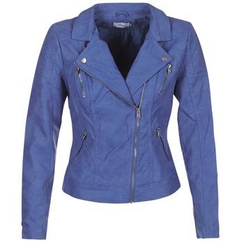 Clothing Women Leather jackets / Imitation leather Only STEADY Blue
