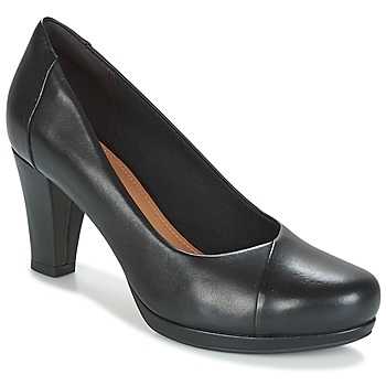 Shoes Women Heels Clarks CHORUS CAROL  black / Leather