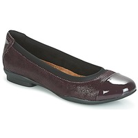 Shoes Women Flat shoes Clarks NEENAH GARDEN Aubergine
