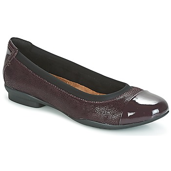 Shoes Women Flat shoes Clarks NEENAH GARDEN Aubergine