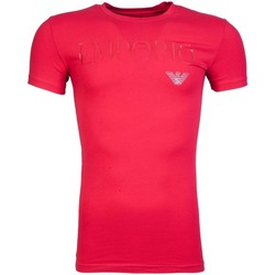 Clothing Men short-sleeved t-shirts Armani T Shirt 111035 7A516 red