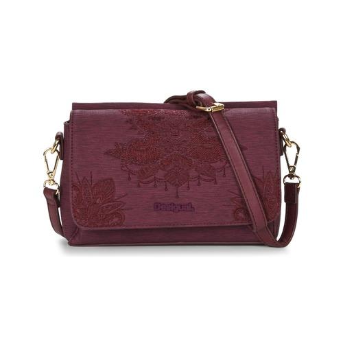 Bags Women Small shoulder bags Desigual BOLS_DALLAS SOFT MENDHI Bordeaux