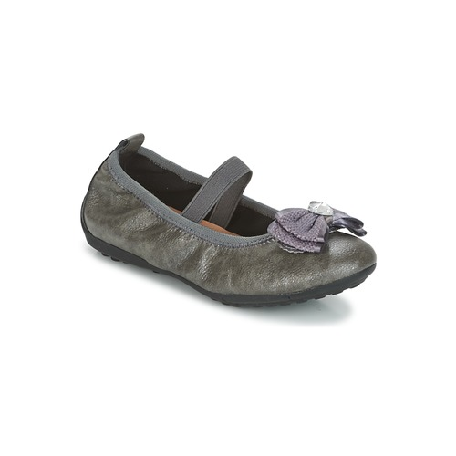 Shoes Girl Flat shoes Geox J PIUMA BALLERINES Grey