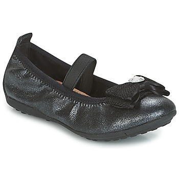 Shoes Girl Flat shoes Geox J PIUMA BALLERINES Black