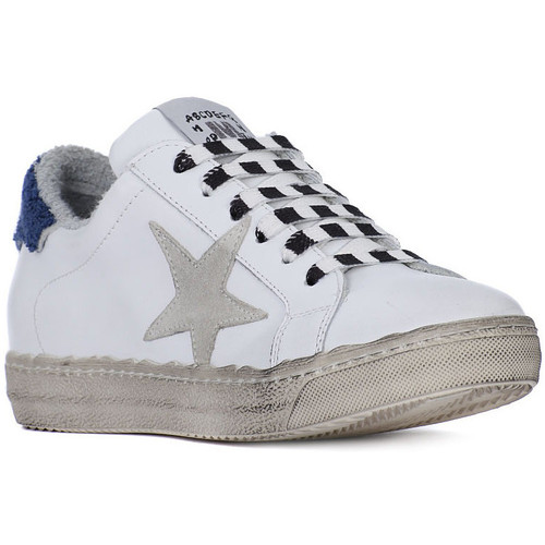 Shoes Women Low top trainers Meline GO GALAXY BIANCO SPUGNA BLU Bianco