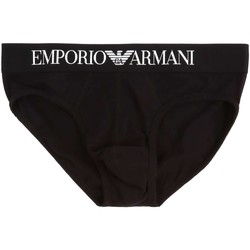 Clothing Men Trunks / Underwear Emporio Armani EA7 111285 CC729 Slip Man Black Black