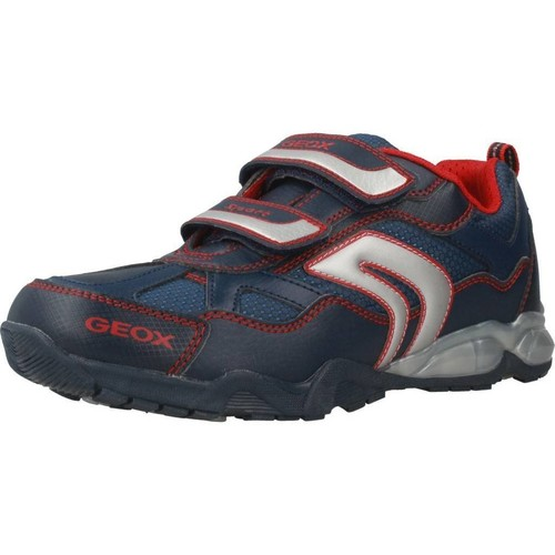 Shoes Children Low top trainers Geox J LIGHT ECLIPSE 2 BO Blue
