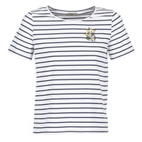 Clothing Women short-sleeved t-shirts Betty London INNAMOU White / Marine
