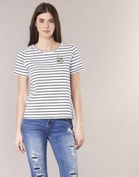 Clothing Women short-sleeved t-shirts Betty London INNAMOU White / Marine
