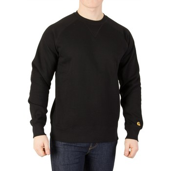 Clothing Men jumpers Carhartt Wip Men's Chase Sweatshirt, Black black