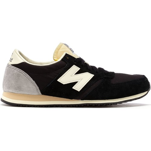 Shoes Men Low top trainers New Balance 420 Classic Trainers in Black & Grey U420 RKG Black