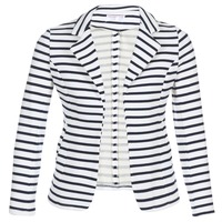 Clothing Women Jackets / Blazers Moony Mood IFAROUCHE White / Marine