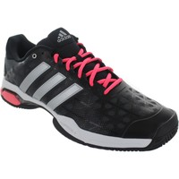Shoes Men Low top trainers adidas Originals Barricade Club Black/Silver/Red