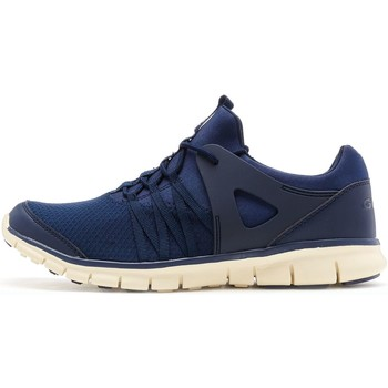 Shoes Men Low top trainers Gola Active Gola Akita Trainers in Navy Blue & Off White AMA758EW Blue