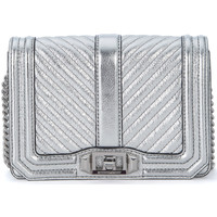Bags Shoulder bags Rebecca Minkoff Small Love silver padded laminated leather shoulder bag Silver