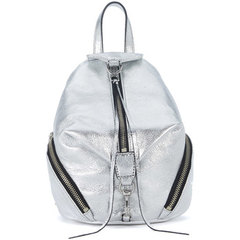 Bags Rucksacks Rebecca Minkoff Mini Julian silver leather backpack. Silver