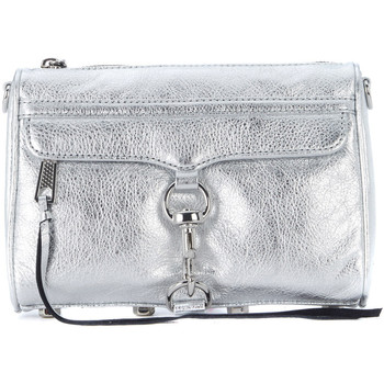 Bags Shoulder bags Rebecca Minkoff Mini M.A.C. silver laminated leather shoulder bag. Silver