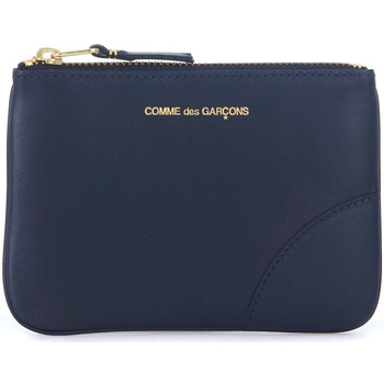 Bags Wallets Comme Des Garcons blue leather pouch Blue