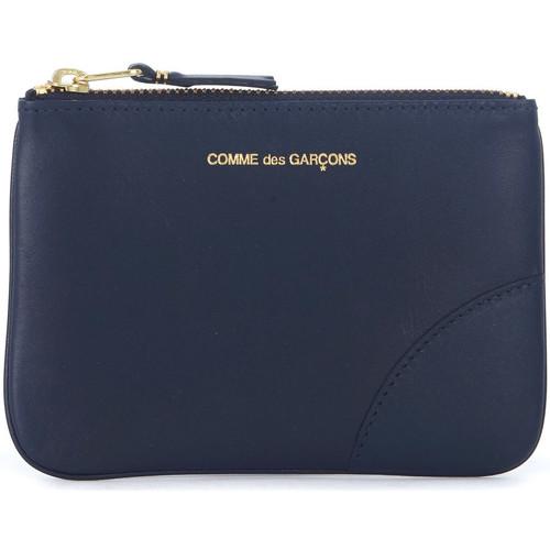Bags Wallets Comme Des Garcons blue leather pouch Blue