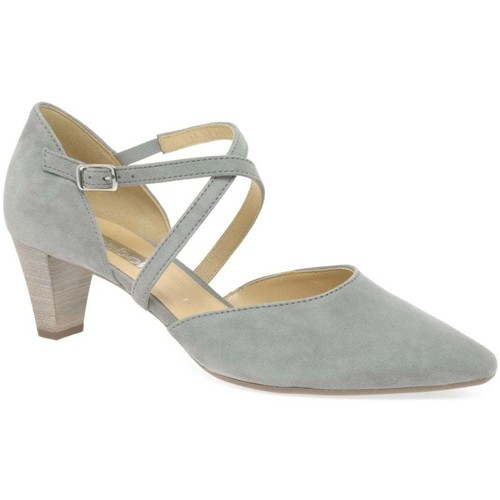 Shoes Women Heels Gabor Callow Womens Modern Cross Strap Court Shoes BEIGE