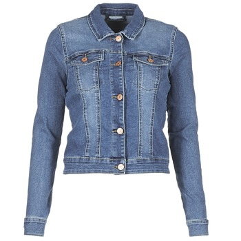 Clothing Women Denim jackets Noisy May NMDEBRA Blue / Medium