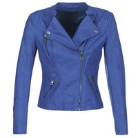 Clothing Women Leather jackets / Imitation leather Only AVA Blue