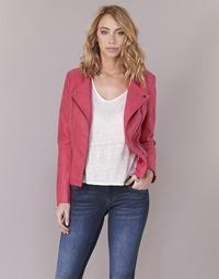 Clothing Women Leather jackets / Imitation leather Only AVA Pink