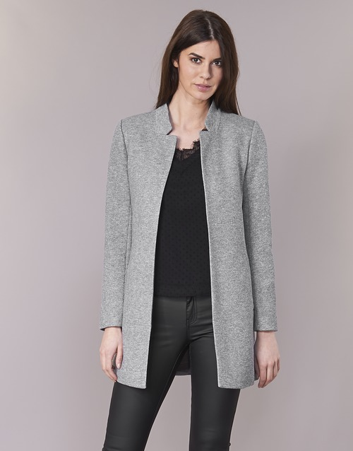 Clothing Women coats Only SOHO Grey