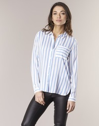 Clothing Women Shirts Only CANDY White / Blue