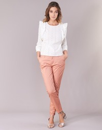 Clothing Women chinos Only PARIS Pink