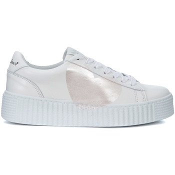 Shoes Trainers Nira Rubens Cosmopolitan white leather sneakers with pearl pink heart White