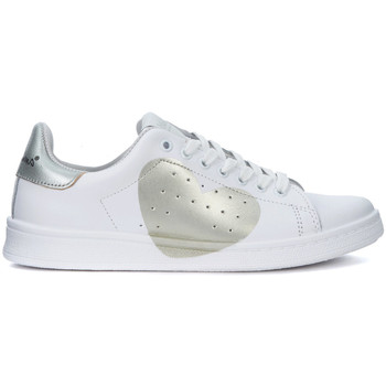 Shoes Trainers Nira Rubens Daiquiri white leather sneakers with aluminum heart White
