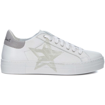 Shoes Trainers Nira Rubens Martini white leather sneakers with grey star White