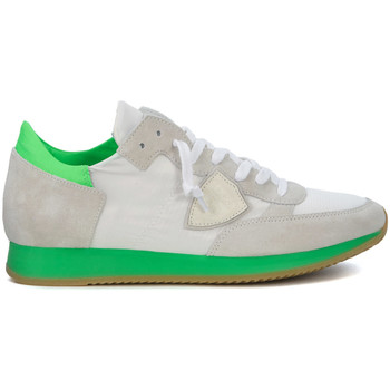 Shoes Trainers Philippe Model Paris Tropez white and green fluo sneaker White