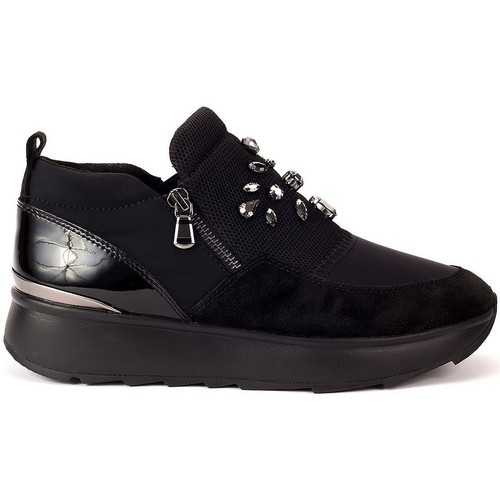 Shoes Women Low top trainers Geox Gendry Black