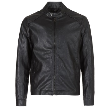 Clothing Men Leather jackets / Imitation leather Yurban IMIMID Black