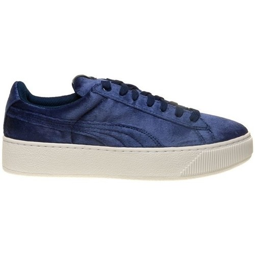 Shoes Women Low top trainers Puma Vikky Platform VR BL Navy blue