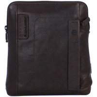 Bags Men Shoulder bags Piquadro BORSELLO PIATTO IN PELLE Marrone