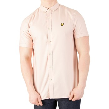 Clothing Men short-sleeved shirts Lyle & Scott Men's Oxford Shirt, Pink pink