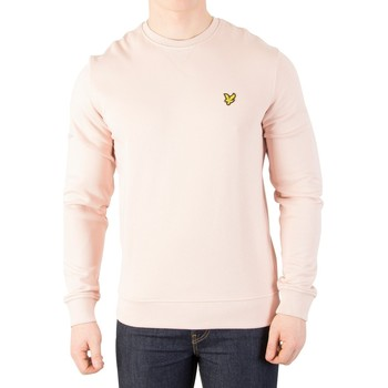 Clothing Men jumpers Lyle & Scott Men's Logo Sweatshirt, Pink pink
