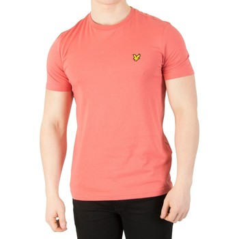 Clothing Men short-sleeved t-shirts Lyle & Scott Men's Logo T-Shirt, Pink pink